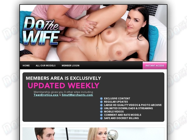 Dothewife.com Discount Join Page