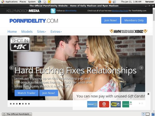 Pornfidelity Avec IBAN / SEPA