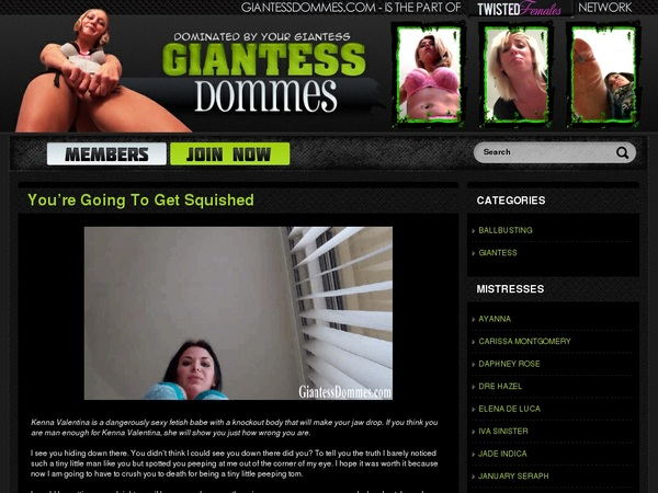 Sign Up Giantess Dommes