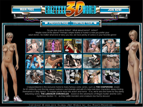 Crazy XXX 3D World Password Site