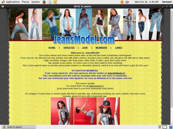 Get Jeans Model Account